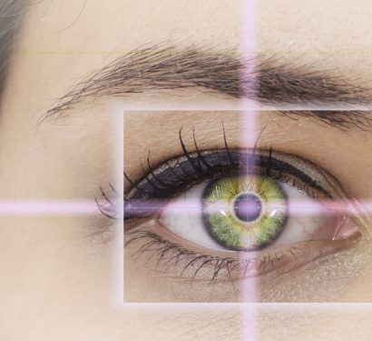 concept art for LASIK with a close up of a targeted eye
