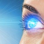 Close up illustration of a female eye