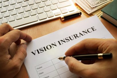 Filling out a generic vision insurance form